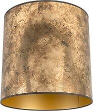 Lampenschirm Bronze 40/40/40 mit goldenem Interieur