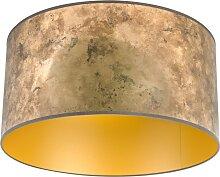Lampenschirm Bronze 50/50/25 mit goldenem Interieur