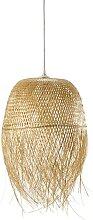 Lampenschirm für Hängelampe aus Bambusgeflecht