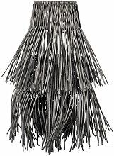 Lampenschirm für Hängelampe aus schwarzem Rattan