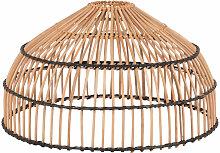 Lampenschirm für Hängeleuchte, aus Rattan, beige