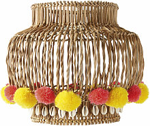 Lampenschirm für Hängeleuchte, Weidengeflecht,