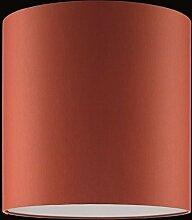 Lampenschirm in Rot - zylinderförmig - Ø 30cm Höhe 30cm - Aufnahme E27 - inklusive LED-Taschenlampe