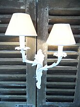 Lampenschirm Klemmschirm Aufsteckschirm Kronleuchter - 10x8x16 - weiß offwhite - NEU