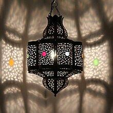 Lampenschirm Orientalische Lampe Fenur 45cm marokkanische Hängelampe arabische Eisenlampe Orientleuchte