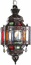 Lampenschirm Orientalische Lampe Ifma 60cm marokkanische Hängelampe arabische Glaslampe Orientleuchte
