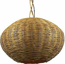 Lampenschirm orientalische Rattanlampe Saba marokkanische Hängelampe Korblampe 2 Grössen (ø 50cm)