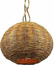 Lampenschirm orientalische Rattanlampe Saba marokkanische Hängelampe Korblampe 2 Grössen (ø 30cm)