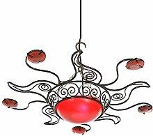 Lampenschirm orientalische Sonnenlampe Shams 50cm rot arabische Deckenlampe marokkanische Hängelampe mediterrane Lampe