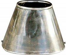 Lampenschirm oval 20cm Edelrost Nickel