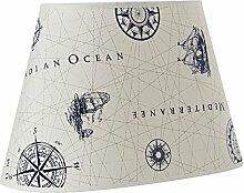 Lampenschirm Oval 35cm Kompass