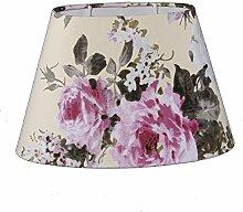 Lampenschirm Oval Creme Rosen Blumen TL 25-15-16