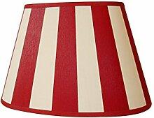 Lampenschirm Oval Streifen Rot TL 25-15-16