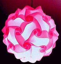 Lampenschirm pink Puzzle Lampe pink Puzzle Lampen