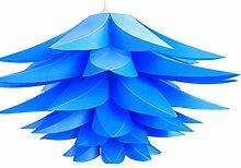 Lampenschirm Puzzle Lotus Schatten IQ PP Lampe Anhänger hängen Lenker Radaufhängung Decke, Lichter Bedroon Wohnzimmer (blau)