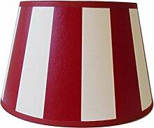 Lampenschirm Streifen Rot TL 25-18-14
