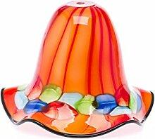 Lampenschirm Tischlampe Lampe Glas Glasschirm