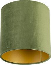 Lampenschirm velours 20/20/20 grün - gold