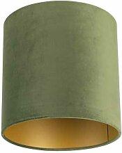 Lampenschirm velours 25/25/25 grün - gold