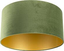 Lampenschirm velours 50/50/25 grün - gold