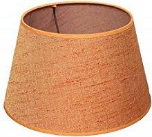 Lampenschirm, zylindrisch, Leinen, Orange 20cm
