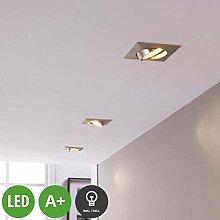 Lampenwelt 3er Set LED Einbaustrahler