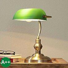 Lampenwelt Bankerlampe 'Milenka' (Retro,