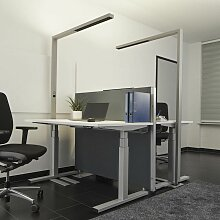 Lampenwelt - Büro-LED-Stehleuchte Jolinda mit