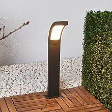 Sockelleuchte Modern Wegelampe Lampenwelt LED Au/ßenleuchte Gregory mit Bewegungsmelder Pollerleuchte in Alu aus Edelstahl spritzwassergesch/ützt A+, inkl. Leuchtmittel - Wegeleuchte