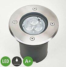 Lampenwelt LED Bodeneinbauleuchte 'AVA'