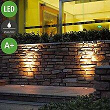 Lampenwelt LED Bodeneinbauleuchte 'JOS',