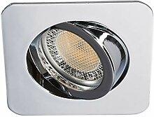 Lampenwelt LED Einbaustrahler 'Lisara'