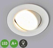 Lampenwelt LED Einbaustrahler 'Quentin'