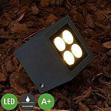Lampenwelt LED Erdspießleuchte 'Charlie'