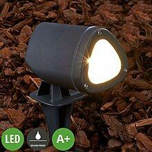 Lampenwelt LED Erdspießleuchte 'Cody'