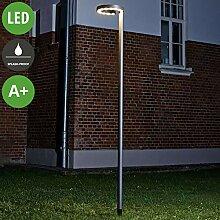 Lampenwelt LED Mastleuchte außen 'Jannis'