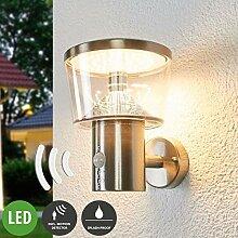 Lampenwelt LED Wandleuchte außen 'Antje'