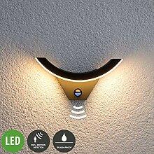 Lampenwelt LED Wandleuchte außen 'Half'