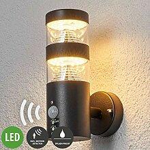 Lampenwelt LED Wandleuchte außen 'Lanea'
