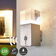 Lampenwelt LED Wandleuchte außen 'Nerius'