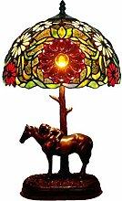 Lampes Vintage Tiffany Stil Tischlampe, Libelle