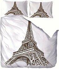 LAMPWF Bettwäsche 220x240 cm Bettbezug Set mit