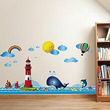 Lan-Ke Wandaufkleber Für Kinder Ozean