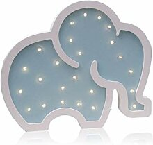 Lan Nachtlicht Newstyle Holz Cartoon elefant form
