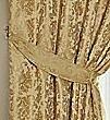 LANA DAMAST - Gefüttert Vorhang - Traditioneller