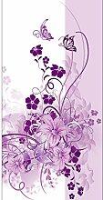 Lana KK Fototapete Poster Tapete - edler Kunstdruck auf Vliestapete in Stuck Optik, 120 x 240 cm, lila, Liebevoll
