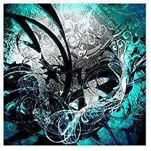 Lana KK Fototapete Poster Tapete - edler Kunstdruck auf Vliestapete in 180 x 180 cm, türkis, JungleGrafBlue