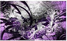Lana KK Fototapete Poster Tapete - edler Kunstdruck auf Vliestapete in 300 x 180 cm, lila, JungleGrafFlieder