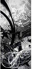 Lana KK Fototapete Poster Tapete - edler Kunstdruck auf Vliestapete in 120 x 270 cm, grau, JungleGrafSW