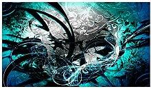 Lana KK Fototapete Poster Tapete - edler Kunstdruck auf Vliestapete in 420 x 240 cm, türkis, JungleGrafBlue